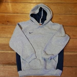Nike Boys Gray and Navy Long Sleeve Hoodie